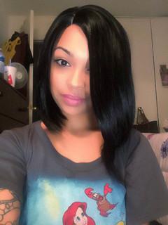 Rihanna celebrity bob style lace wig virgin hair 8inch