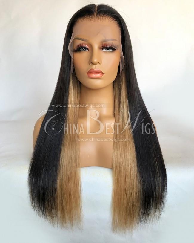 HWS-324 Brazilian Virgin Hair 20 Inch Pre-plucked Hairline T Frontal Wigs