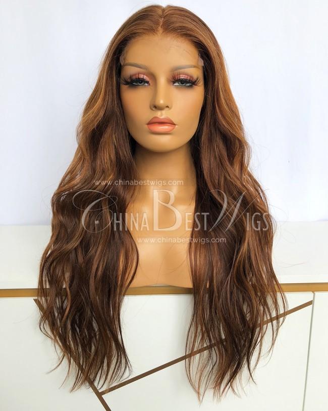 SP83 22 Inch Brazilian Virgin Hair Bleach Knots Natural Hairline Wigs