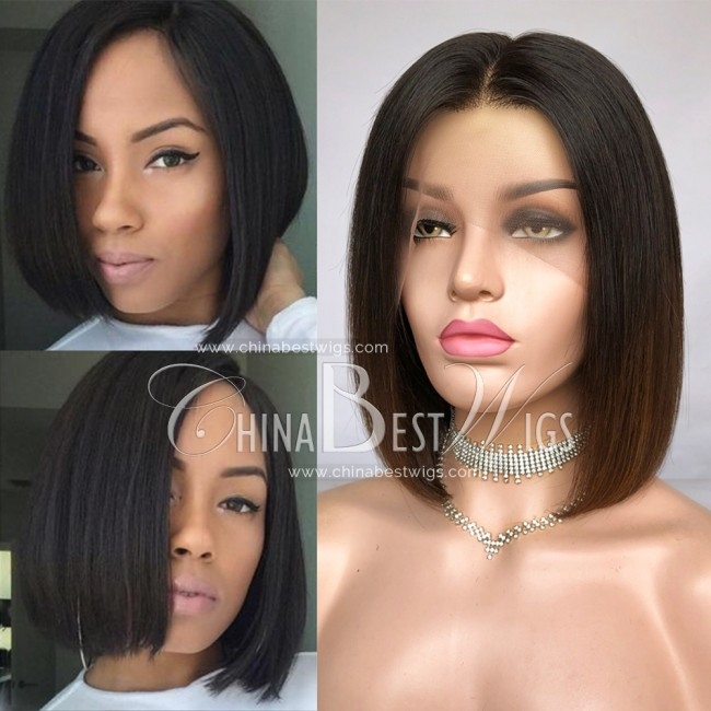 HWS-283 Ombre Bob Straight 10 Inch  150% Density Lace Front Wigs