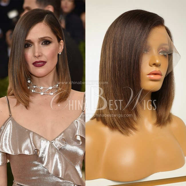 N42 Wholesale Celebrity Wigs 12 inch Ombre Color 150% density Bob Cut