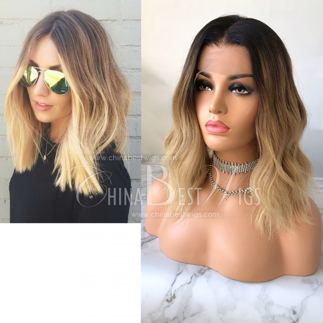 N94 14 inch  150% Density  Ombre Blonde Wavy Wholesale Wigs