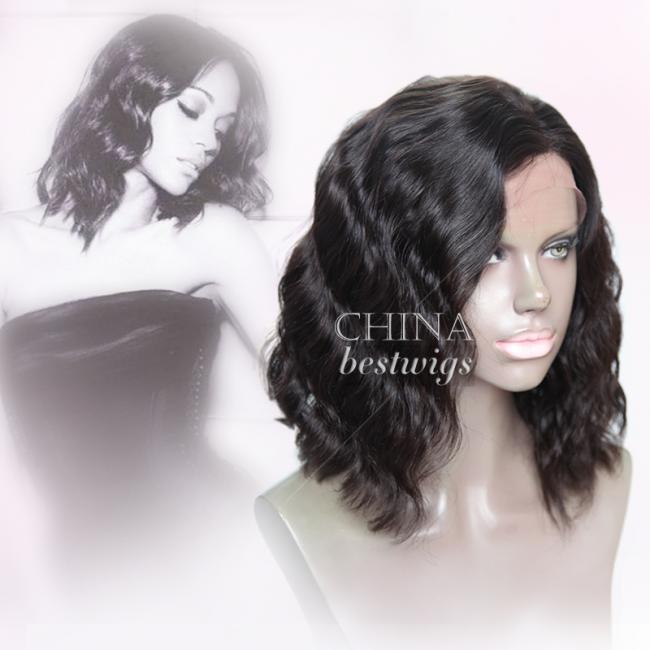 N10 Indian Virgin Hair Wavy 14 inch BOB Celebrity Wigs