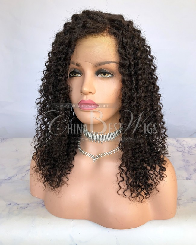 HWS-237  Virgin Human Hair 150% Density 16'' Glueless Lace Front Wigs