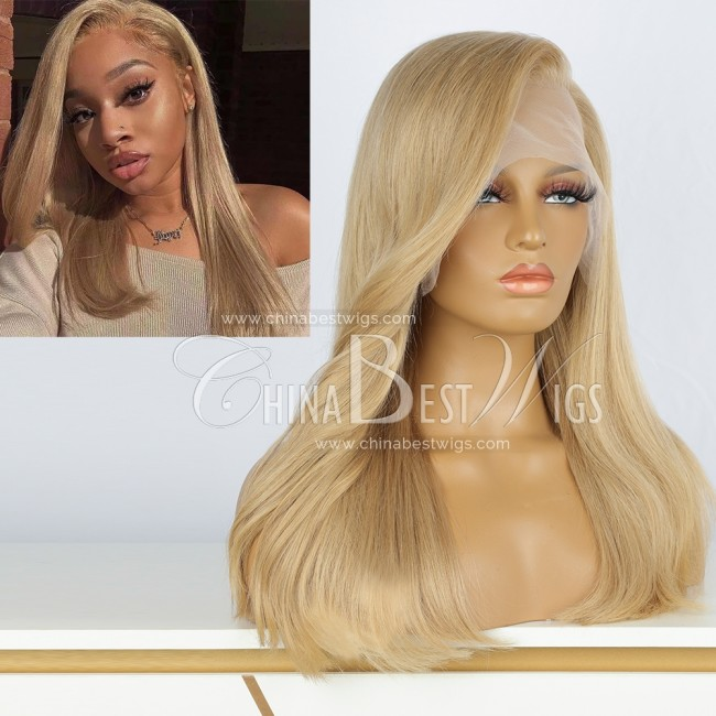 N230 16 Inch  180% Density Blonde Color Glueless Lace Front Wigs