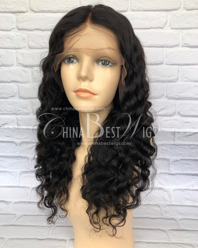 HWS-163 Indian Virgin Hair 180% density Deep Body Wave wholesale lace wigs