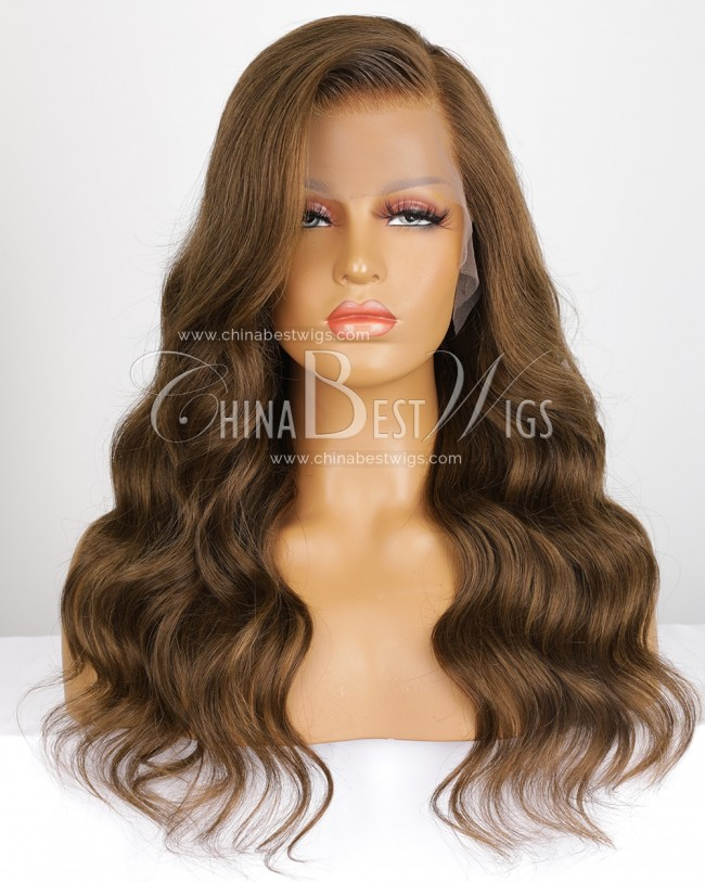 N157 18 Inch Brazilian Virgin Hair 150% Density Lace Front Wigs
