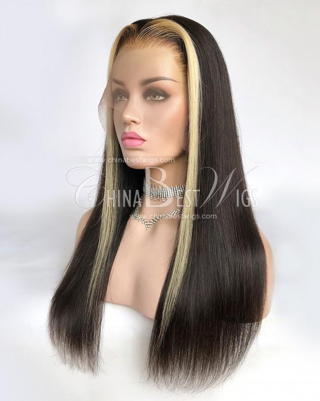 N164 18 Inch Brazilian virgin hair 150% Density Lace Front Wigs