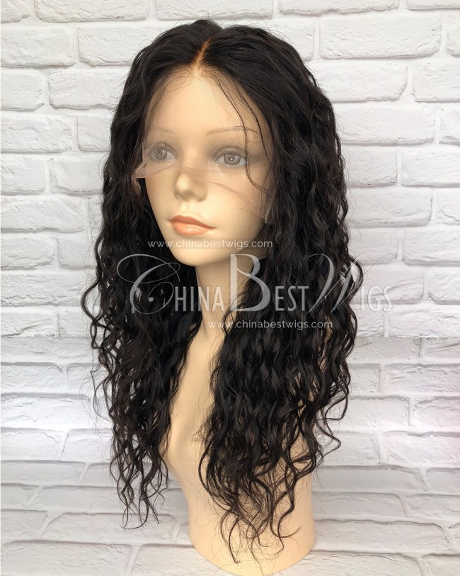 HWS-150 Glueless Full Lace Wig Natural Hairline Natural Curl 180% density Wigs