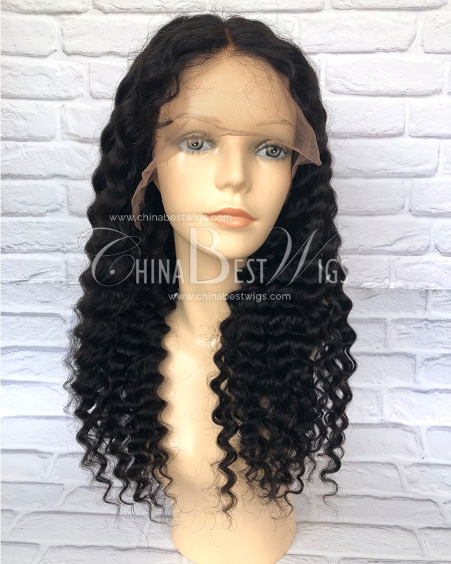 HWS-154  Spanish Wave 20 inch 150% Density Glueless Lace Front Wigs