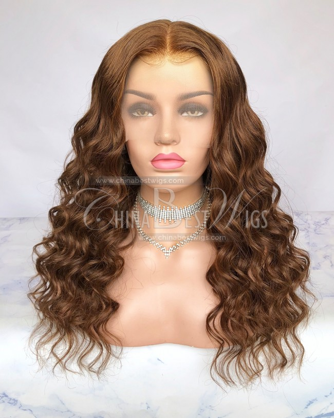 HWS-268  Middle Parting Big Wavy 150% Density 20 Inch Glueless Wigs