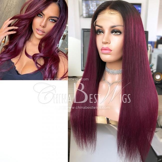 HWS-279  20 Inch Best Brazilian Virgin Hair 130% Density Glueless Full Lace Wigs