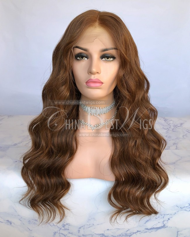 N146  Wavy 20 Inch Natural Hairline Glueelss Lace Front Wigs Supplier
