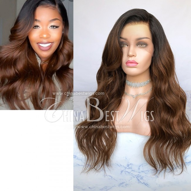 HWS-280 150% Density Pre-plucked Hairline 22 Inch Glueless Full Lace Wigs