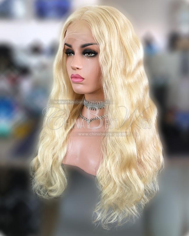 HWS-233  #613 Brazilian Virgin Hair Body Wave Full Lace Wigs