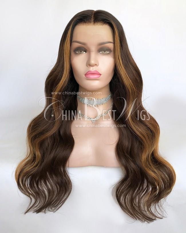 N171 22 Inch  150% Density Brazilian Virgin Hair  Lace Front Wigs