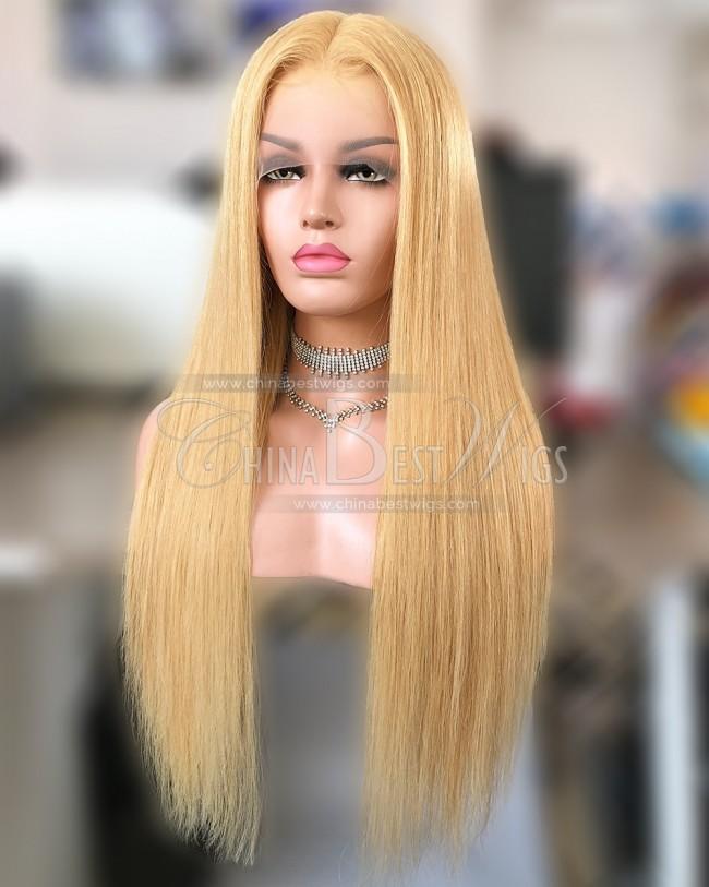 HWS-265 Virgin Brazilian Hair 24 Inch 27# Lace Front Wigs