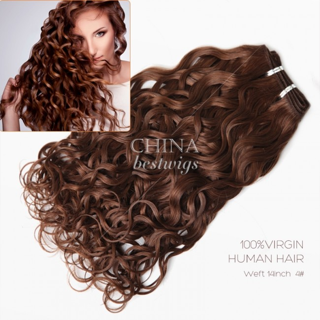 HCTS-1 Brazilian virgin human hair weave 14inch 4# loose curl