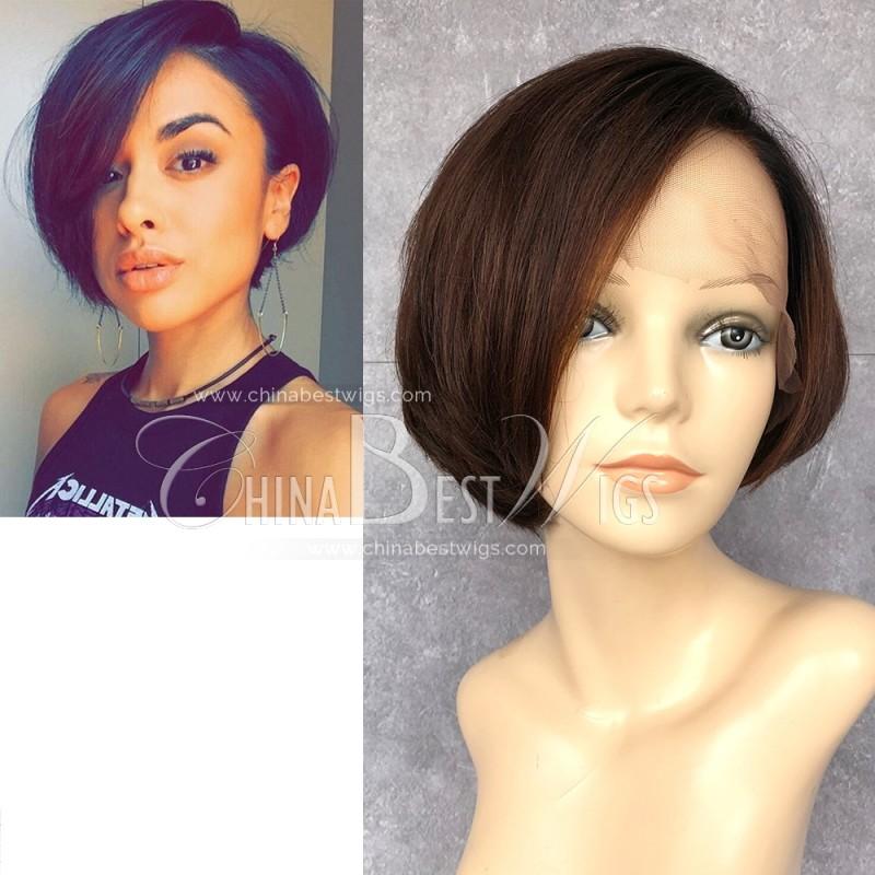 N88 Short Bob Cut Wig Ombre Color Wholesale Human Hair Wigs