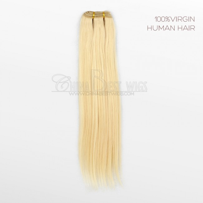 HCTS-31 Machine made weft virgin hair 20inch 613# silky straight