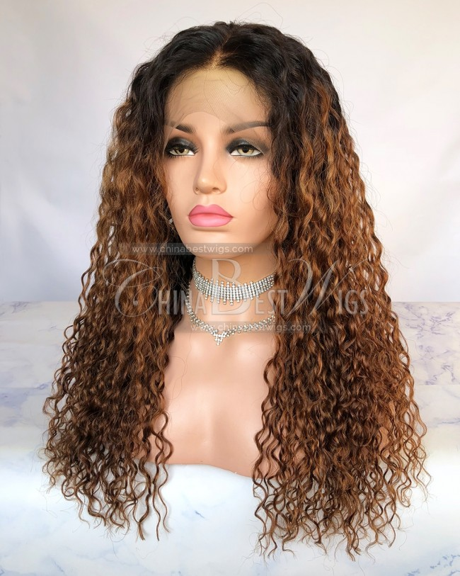 HWS-246  360 Wig Indian Virgin Hair  Deep Wave 150% Density Glueless Wigs