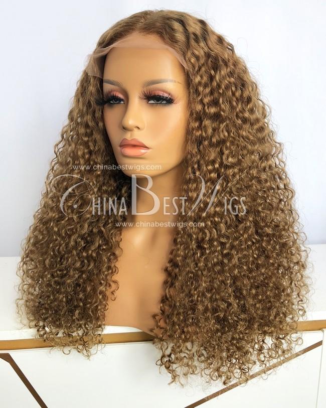 HWS-352 Brazilian virgin Hair 22'' 180% density Water Wave Closure Wigs