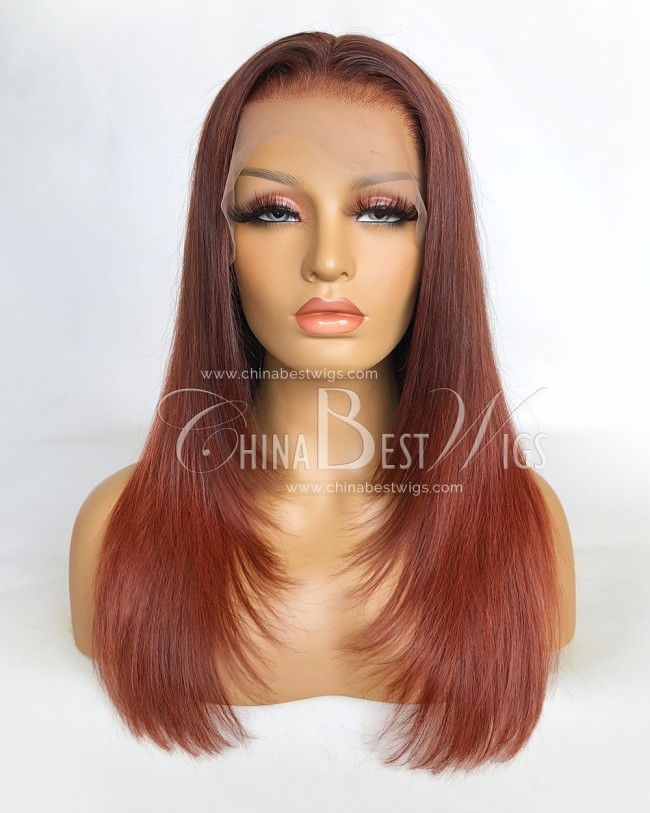 N140-2  Ombre Color 16 Inch Indian Virgin Hair T Lace Closure Wigs