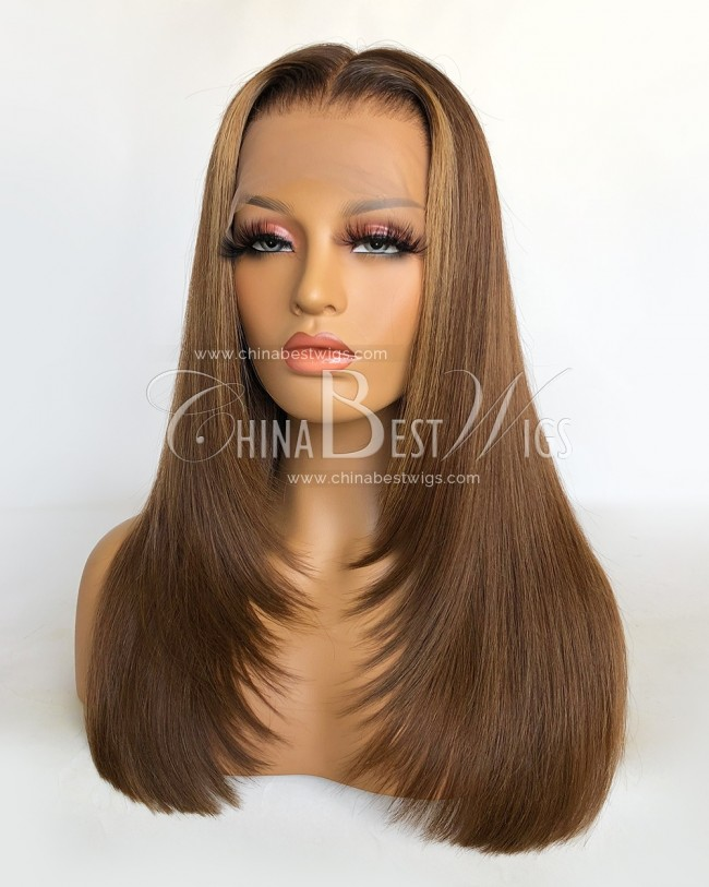 N175 Virgin Human Hair 16'' Glueless Lace Front Wig