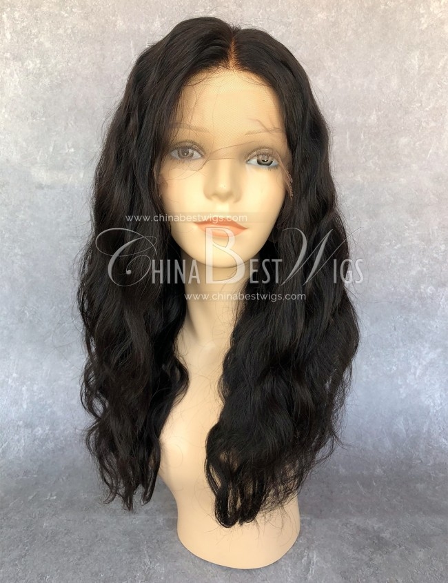 HWS-146 wholesale lace front wig 180% density pre-plucked hairline body wave Brazilian hair Wig