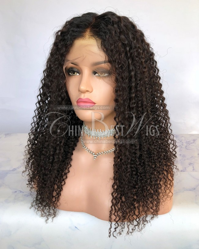 HWS-238 Kinky Curly Virgin Human Hair 20 inch Lace Front Wigs Manufacturer