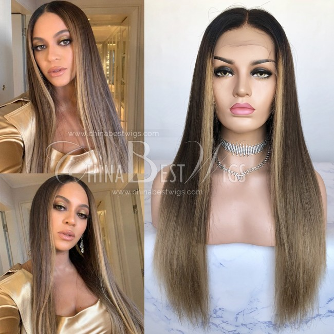 N141 Brazilian Virgin Hair 20'' 180% Density Straight Ombre Wigs
