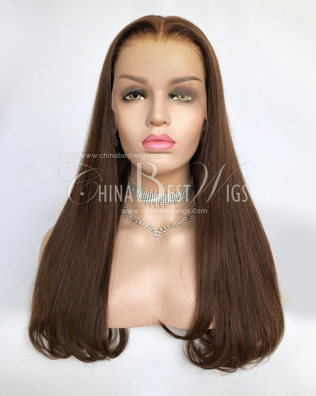 N148 20 Inch Virgin Human Hair 150% Density Glueless Lace Front Wigs