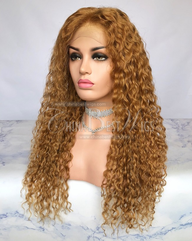 HWS-256 180% Denisty Brazilian Virgin Hair 22 InchGlueless Lace Front Wig