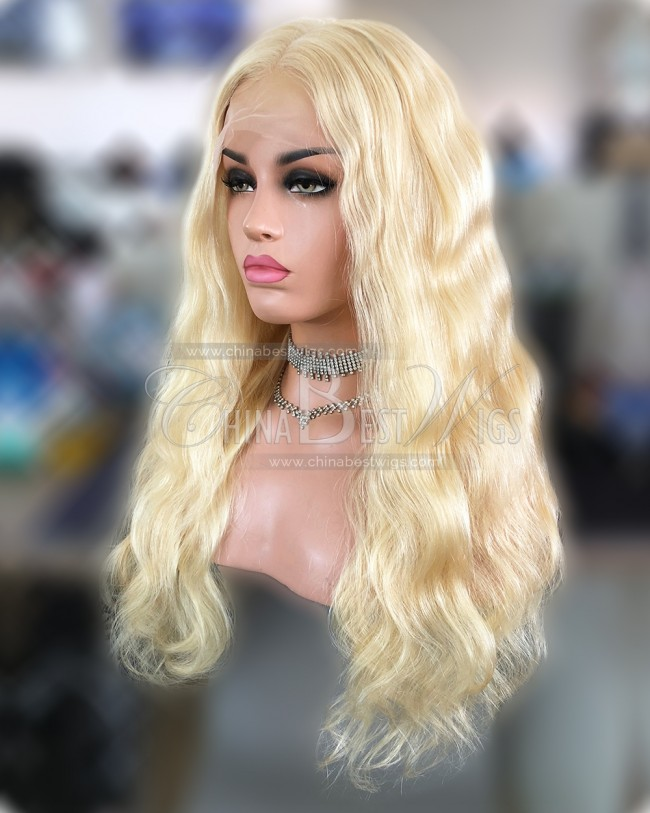 HWS-233  #613 Brazilian Virgin Hair Body Wave Full Lace Wigs