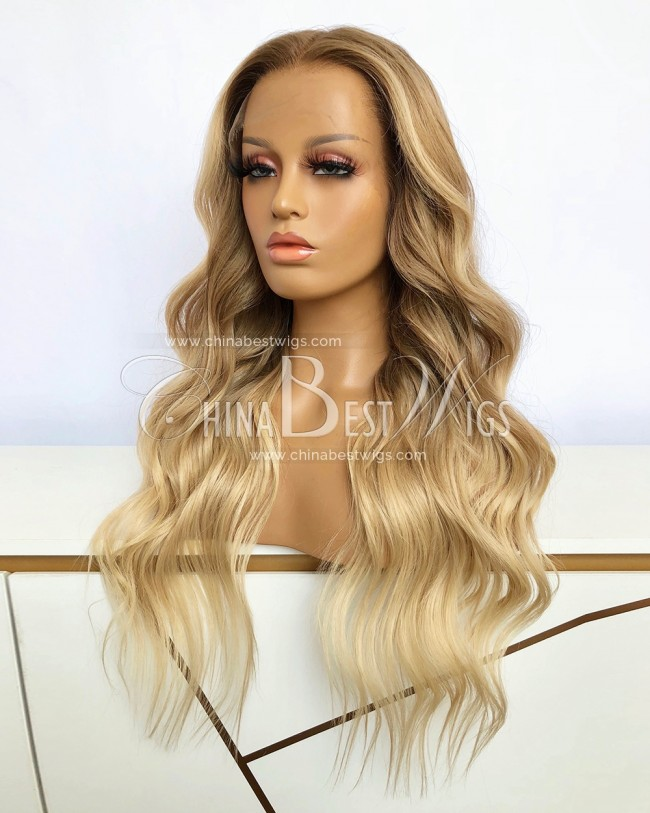 SP89 22 Inch Wavy 150% Density Ombre Color Lace Front Wigs