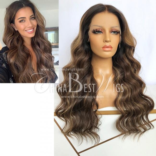 SP88 22 Inch 180% Density Brazilian Hair Wavy Glueless Wigs