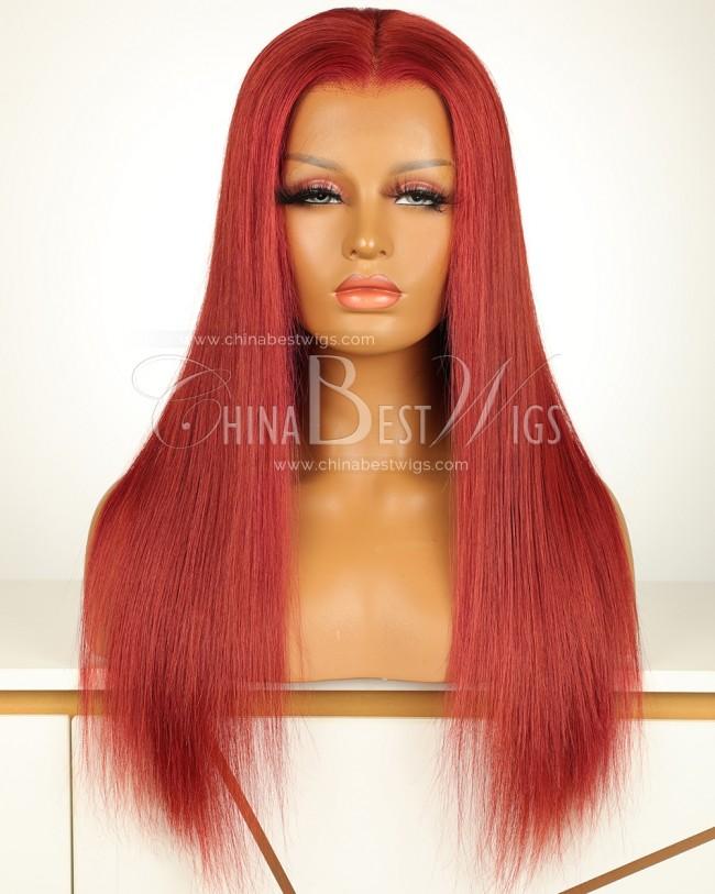 N193 Brazilian Virgin Hair 180% Density 18 Inch Straight Lace Front Wigs