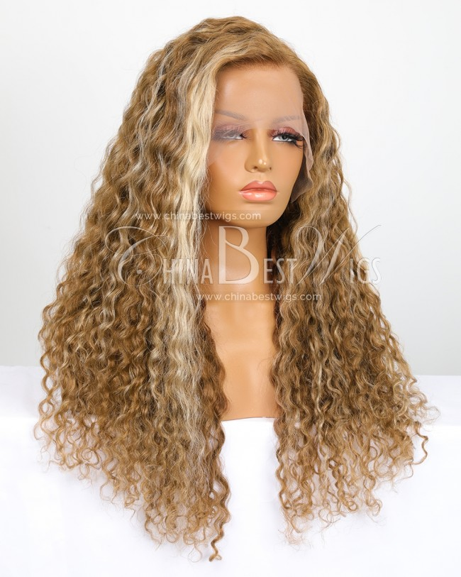 SP45 Virgin Hair 22 Inch Deep Wave 150% Density Glueless Lace Front Wigs