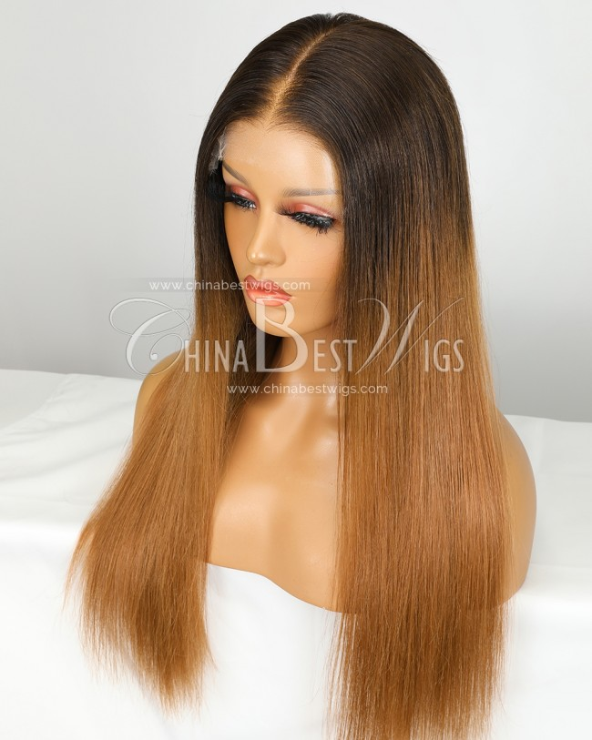 SP91 20 Inch Virgin Human Hair Ombre Color Indian hair Gluless Lace Front Wigs